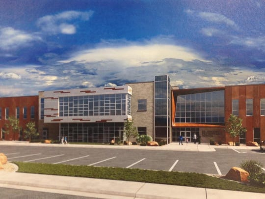 A rendering of the new elementary school.