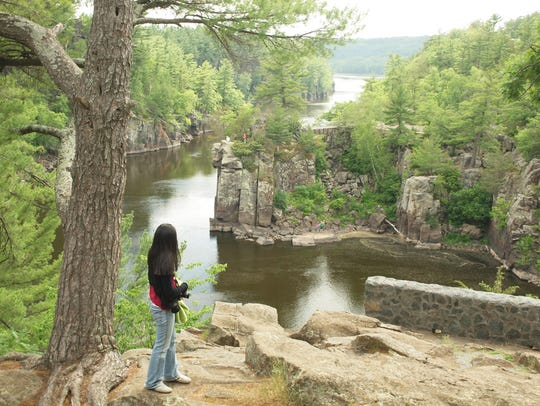 Inside Interstate State Park, at the St. Croix River,