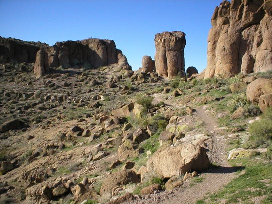 The Monolith Garden Trail is one of several little known hiking and biking trails outside of Kingman.