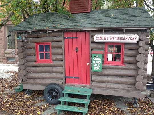 Santa's Cabin, constructed in 1937, is still used today. Only a few minor changes were made, such as the addition of wheels to make it easier to maneuver from storage.