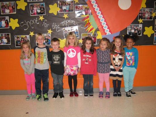 October Kindergarten students of the month at Janvier School