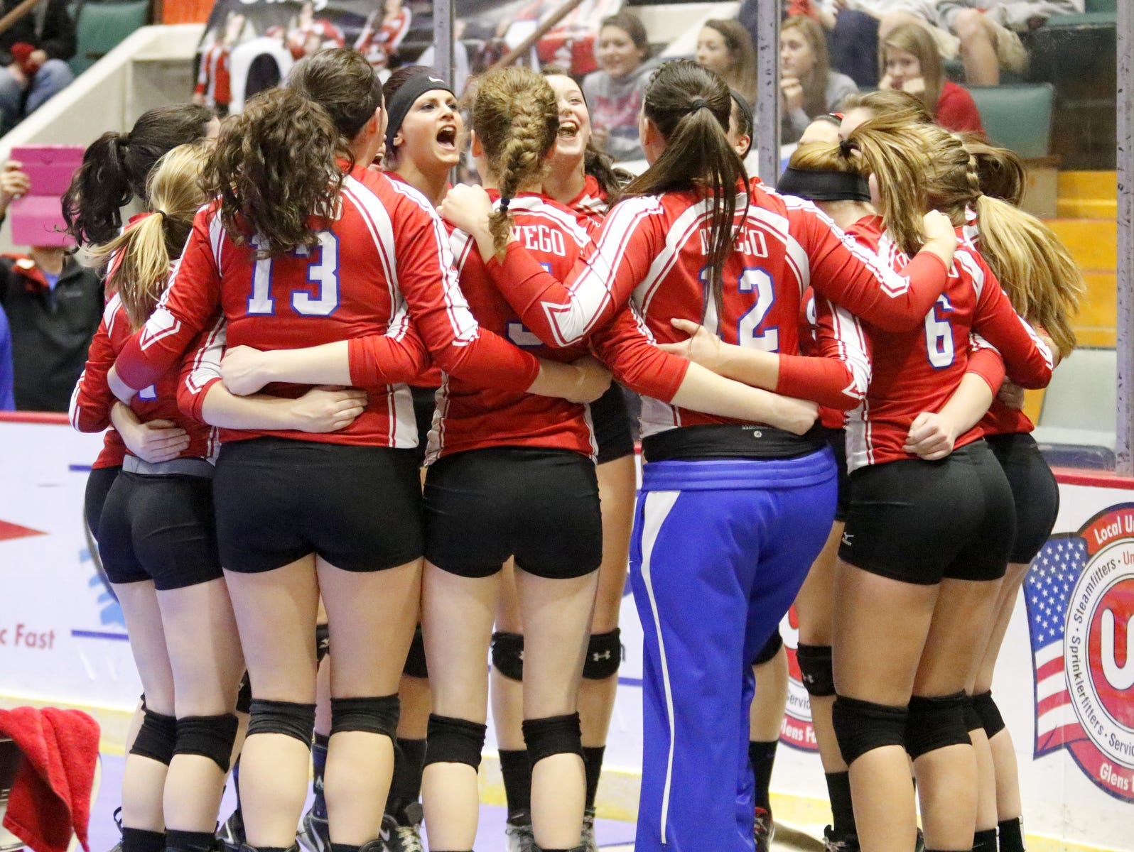The Owego Free Academy girls volleyball team captured the Class B state title with a 3-1 win over John Glenn.