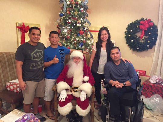 Capt. Joel Espino is currently at Fort Sam Houston, San Antonio, Texas. He recently sent a video message of appreciation to the people of Guam while he recovers from his injuries sustained in a hit-and-run incident in September 2014. The captain has been going through therapy and working with a new prosthetic leg.