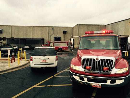 Multiple crews were dispatched to the scene of a fire.