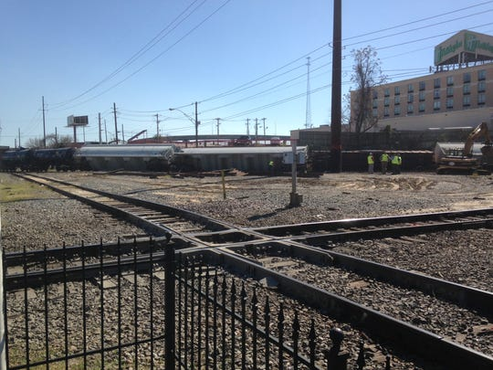 A train derailed in downtown Shreveport.