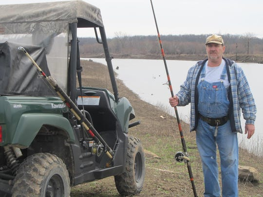 Jon Belcher has everything ready for the spoonbill snagging season. His vehicle is loaded with snagging gear for a day of trying to hook a big spoonbill.