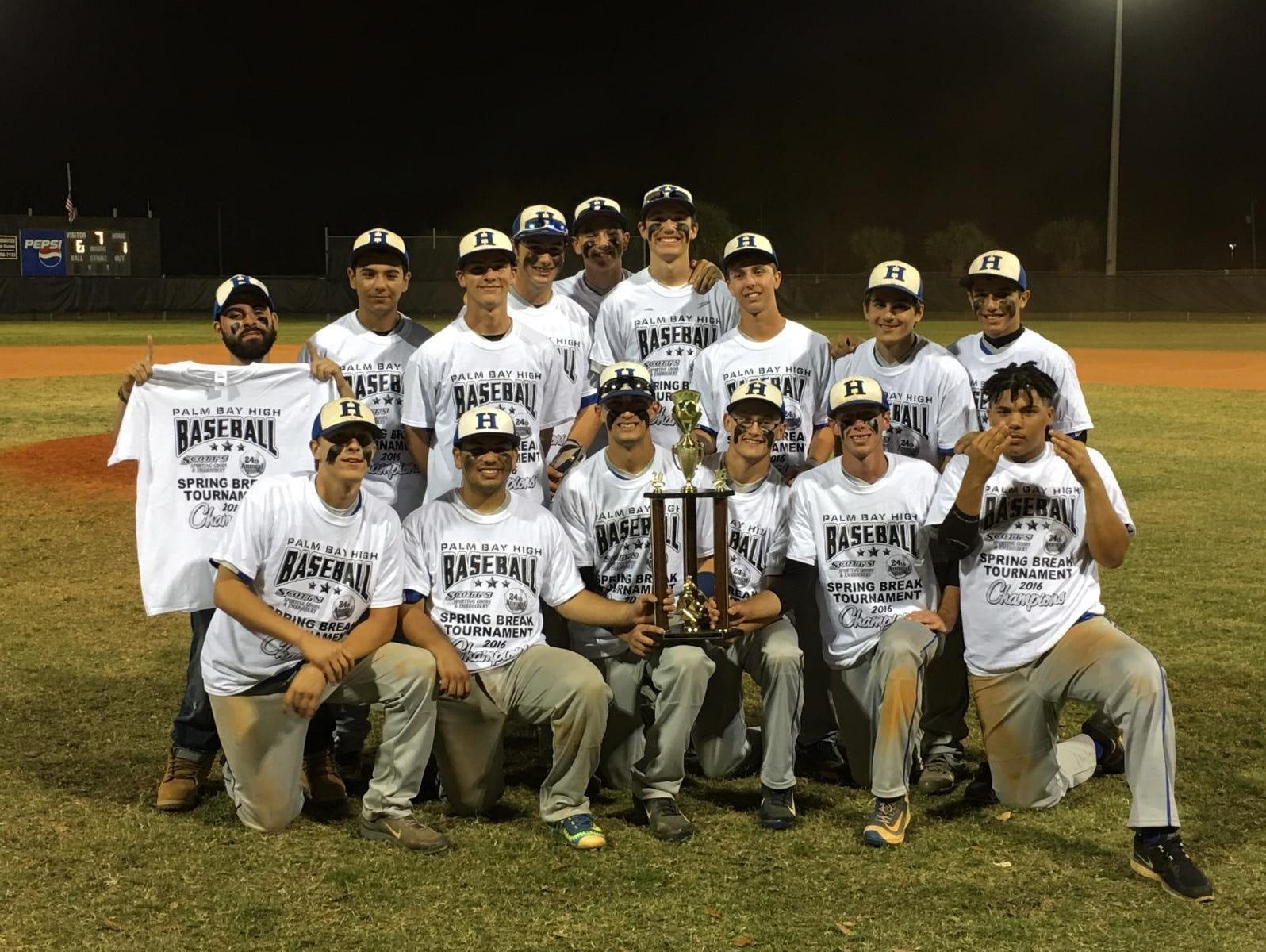 The Heritage baseball team won Palm Bay's spring break tournament last week.