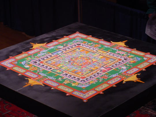 A mandala — diagram, chart or geometric pattern that