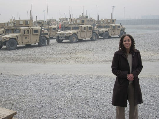 Farah Stockman on assignment in Afghanistan for the Boston Globe in 2011. The East Lansing native won a Pulitzer Prize in April.