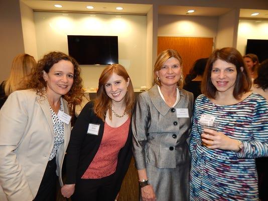 Susan Galvao, left, Elizabeth Briand, Nancy Rudolph and  Alison Berger at Heineken USA's headquarters in White Plains.