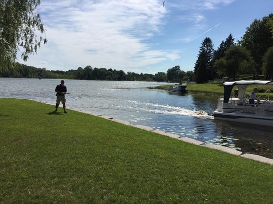 Rescuers are on scene of a possible drowning on Handy Lake in Hartland Township. It was reported around 4 p.m. Monday.