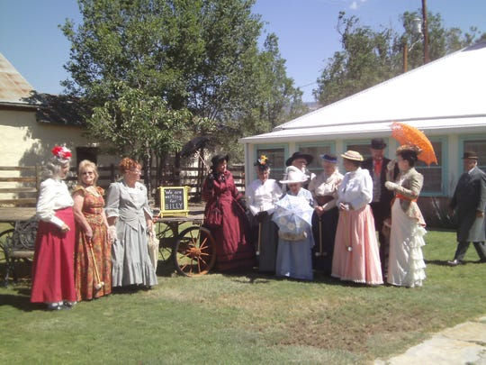 """""""We're waiting for Billy,"""" invite the Cameo Ladies attired in 1880s finery, an homage to a photograph allegedly showing Billy the Kid playing croquet."""