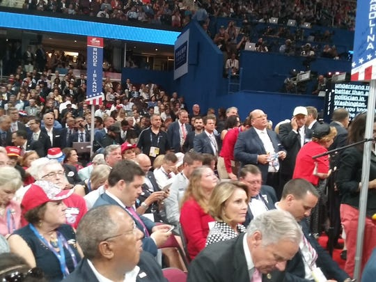 Delegates await Donald Trump's acceptance speech at