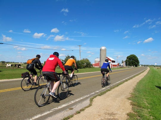 Bicyclists will work up an appetite on hilly terrain during the annual Bike the Barns fundraiser that begins in Verona.