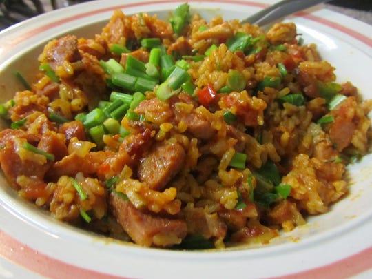 Chicken and sausage jambalaya