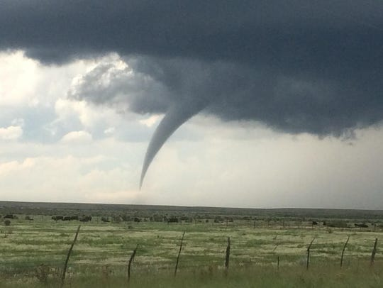 A tornado was confirmed near Hope, N.M. Thursday at