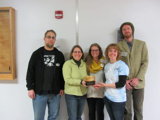 Shown receiving the award at Empty Bowls in October