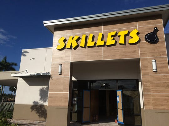 The sixth location of Skillets breakfast restaurant is targeted to open in mid-December at the Collier Boulevard entrance to Lely Resort in East Naples.