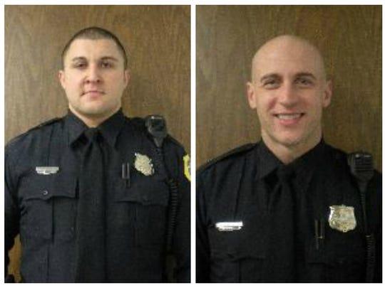 Senior Police Officers Joshua Judge (right), and Tyson