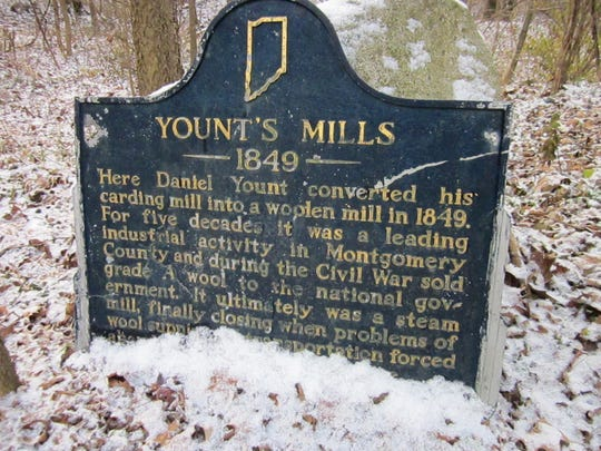 This state historic marker tells the story of the mill.