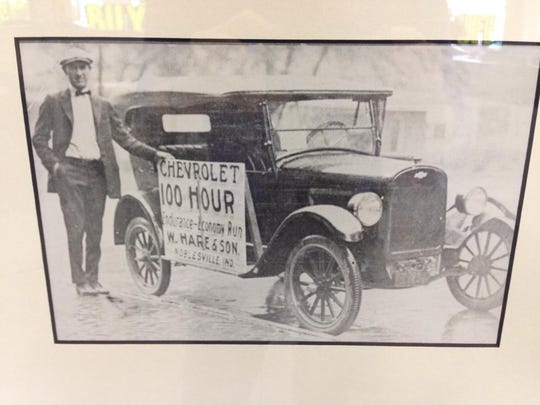 2) 100 Hours – an early promotion at W. Hare & Son. The forerunner of Hare Chevrolet was founded as a buggy maker by Wesley Hare in 1847. In 1912 Hare ventured into automobiles, which turned out to be the right decision. Undated photo.