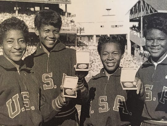 Wilma Rudolph, second from left, with her Olympic teammates.