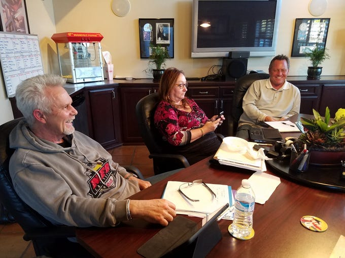 From left, Don Chiappetti, treasurer, Wendy Springborn,
