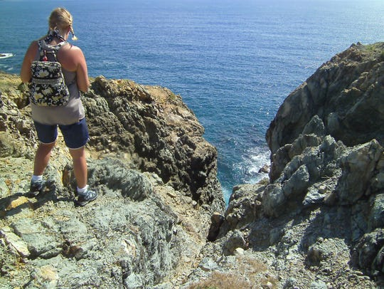 Spectacular views await the intrepid hiker in US Virgin
