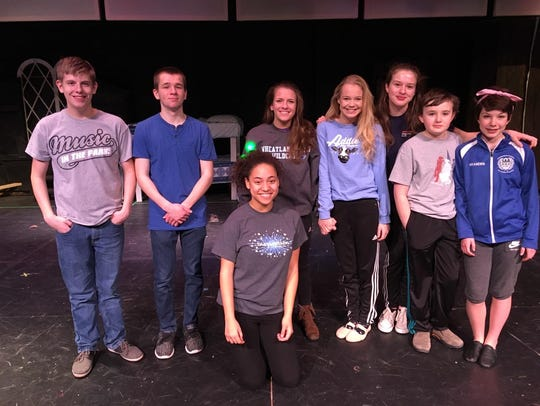 Some of the cast members of Wheatland-Chili High School's