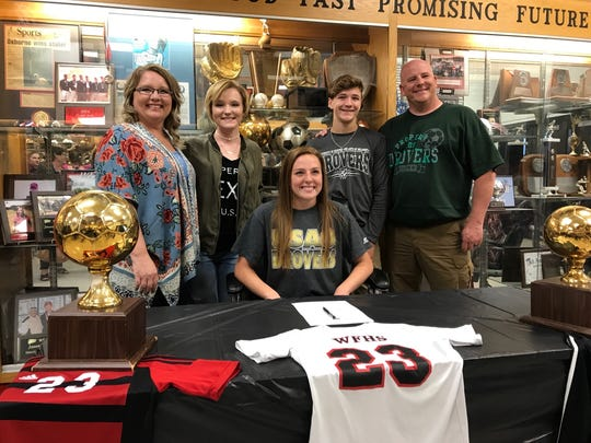 WIchita Falls High School's Reilly Anderson signed to play soccer with the University of Science and Arts of Oklahoma.