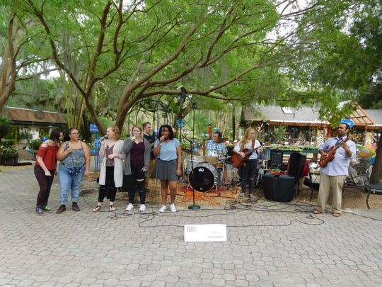 Tallahassee Nurseries was one of the non-traditional venues and it suited the SAIL High School Musiq Ensemble perfectly.