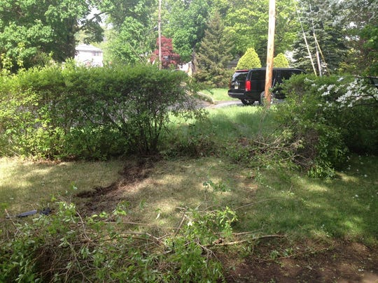 A Pompton Lakes man drove into a front yard and some