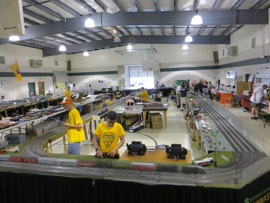 The 40-by-60-foot layout of the Trainmasters of Somerset