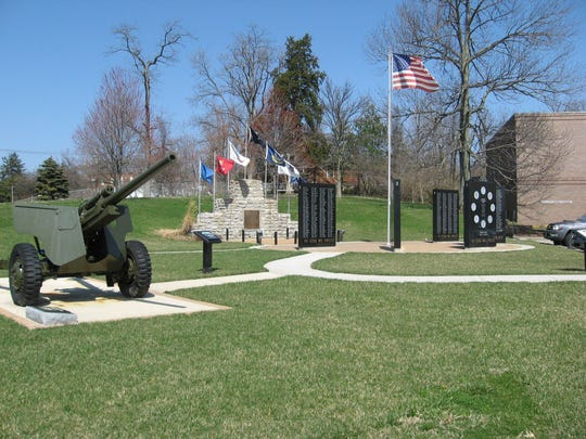 The Delhi Township Veterans Memorial is at the township's