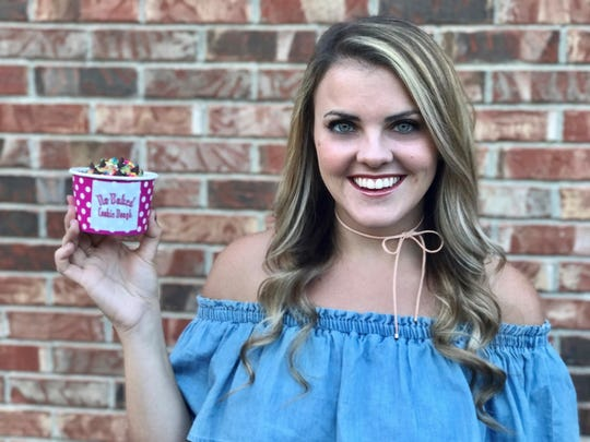Megan Beaven, owner of No Baked Cookie Dough, makes