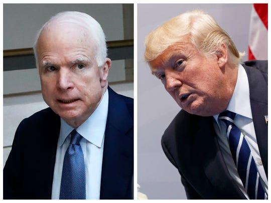 John McCain and Donald Trump