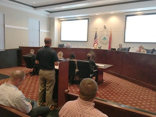 Fairview City Engineer Will Owen speaks to the City