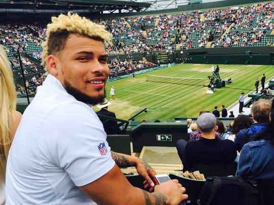 Tyrann Mathieu attends Wimbledon last month in London.