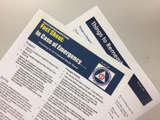 Guam Homeland Security issued a new fact sheet Friday, Aug. 11, 2017, to help residents prepare for an imminent missile threat.