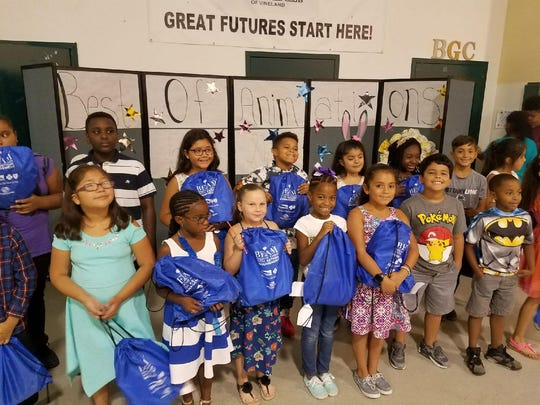 Members of the Boys & Girls Club of Vineland received