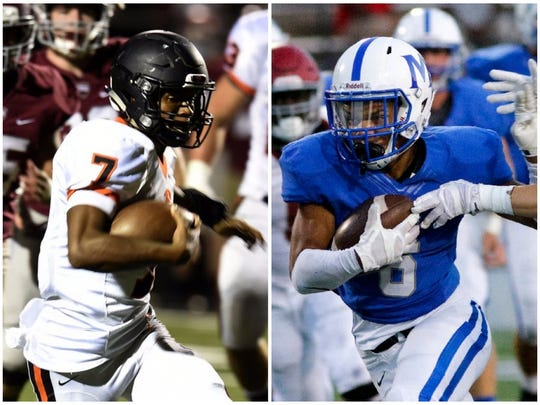 Ensworth athlete Jaylon King (left) and McCallie wide receiver Rico Dozier (right)