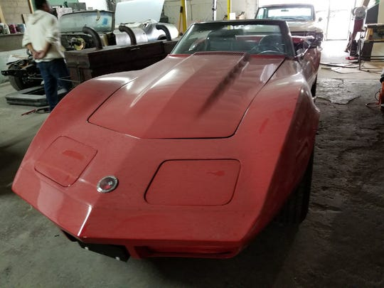 Classic cars like this 1973 Stingray Corvette can be fully customized or restored at Minor Customs LLC in Fremont.