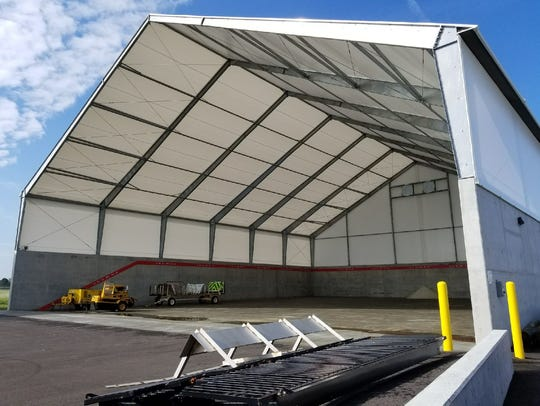 New salt mound storage capable of holding 8,000 tons