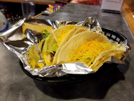 Head Chef Famando Poole  created homemade tacos using fresh ingredients for the new Byron's Gear House Lounge.
