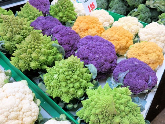 Cauliflower of all different hues can be found at New