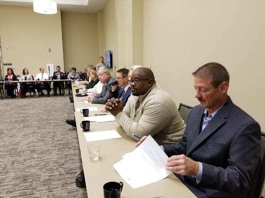 Nearly 40 Sandusky County business and school leaders meet to discuss a new initiative linking local schools with businesses.