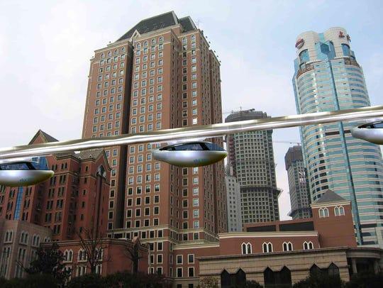 skyTran, a company proposing to revolutionize urban