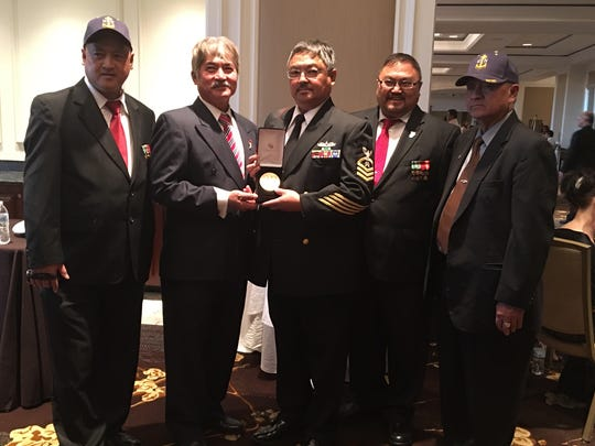 Edel Alayon was able to contact his local congressman and work it out so that his brothers, who are all veterans, could attend the Congressional Gold Medal presentation in Washington, D.C. along with him.  From left: Edgar Alayon, Earl Alayon, Ernie Alayon, Edel Alayon, and Eduardo Alayon.