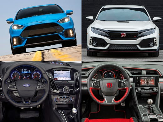 2016 Ford Focus Rs Left And The 2017 Honda Civic Type
