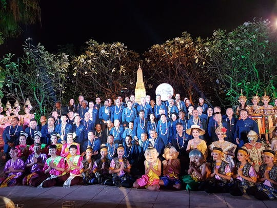 A dinner event for the the 22nd Asian Volleyball Confederation General Assembly in Bangkok Thailand.
